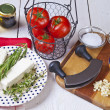 Ingredients for baked feta — Stock Photo #5874105