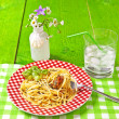 Spaghetti al Pesto — Stock Photo #5876038