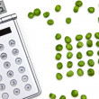 Stock Photo: Counting peas
