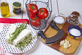 Ingredients for baked feta — Stock Photo