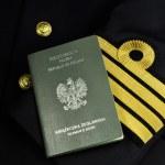 Sailor uniform with seaman's book, naval captain, — Stock Photo #6420843
