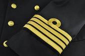 Navy uniform, captain — Stock Photo