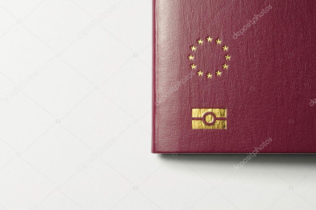 Passaporto Biometrico Italiano Stelle Dell 39 Unione Europea Segnando un Passaporto Biometrico su Sfondo