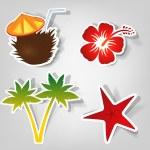 Set of vector stickers — Stock Vector #5735183