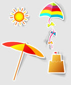 Set of vector stickers — Stock Vector