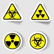 Signs of biological and radioactive contamination — Stock Vector