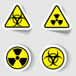 Stock Vector: Signs of biological and radioactive contamination