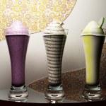The tasty ice-creams — Stock Photo