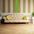 Interior design scene with a classic sofa and two tables with t — Stock Photo #5747222