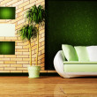 Foto Stock: Interior design scene with
