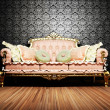 Modern  interior design of living room with a  royal sofa - Stock Photo