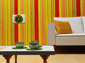 A nice interior with the colored stripes — Stock Photo