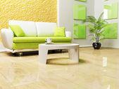 Modern interior design of living room — Stock Photo