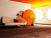 Nowoczesne wnętrza salonu — Zdjęcie stockowe