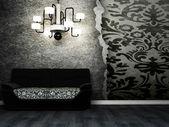 современный дизайн интерьера гостиной комнаты — Стоковое фото