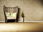 Nice interior design of living room — Stock Photo