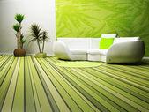 Design de interiores moderno de viver — Fotografia Stock