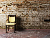 Interior design scene with a chair — Stock Photo