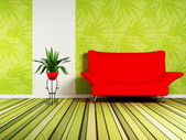 Modern interior design of living room — Stock Photo
