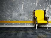 Interior design scene with an armchair — Stock Photo