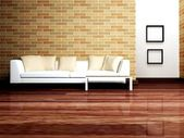 Modern interior design of living room with — Stock Photo