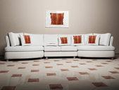 Moderní design interiéru obývacího pokoje — Stock fotografie