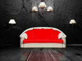 现代室内设计的客厅 — 图库照片