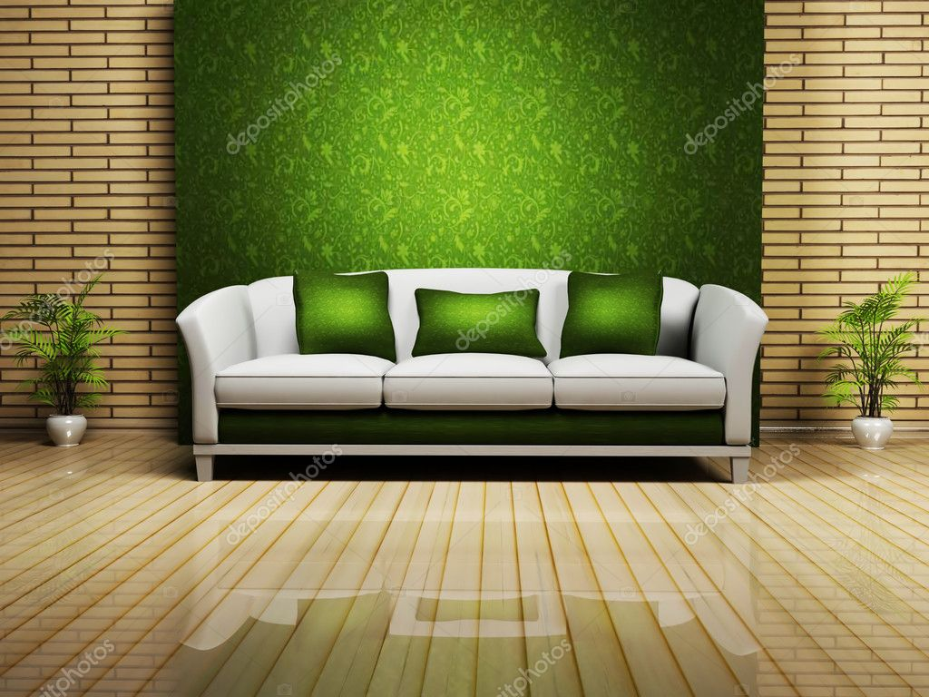 Modern Interior Design With A Nice Sofa And A Plant Stock Photo Minerva86 5746950