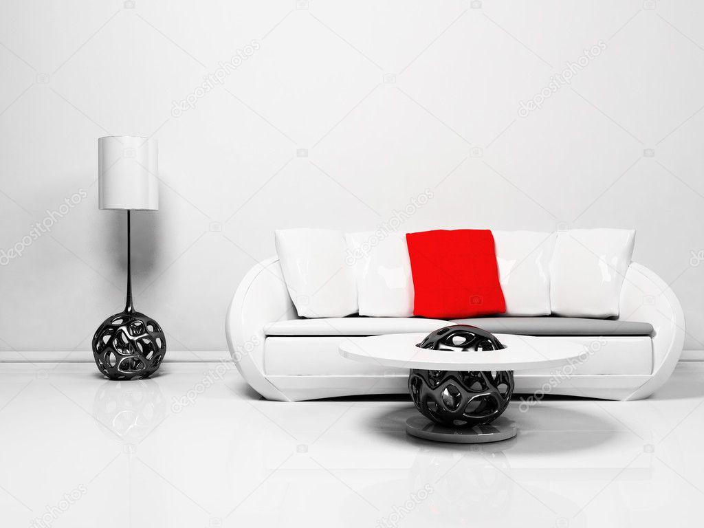 Modern inredning av vardagsrum — stockfotografi © minerva86 #5747025