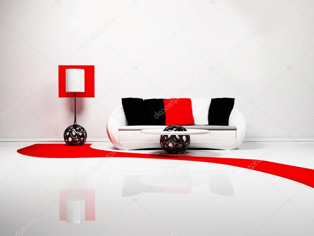 Modern inredning av vardagsrum — Stockfotografi © minerva86 #5747026
