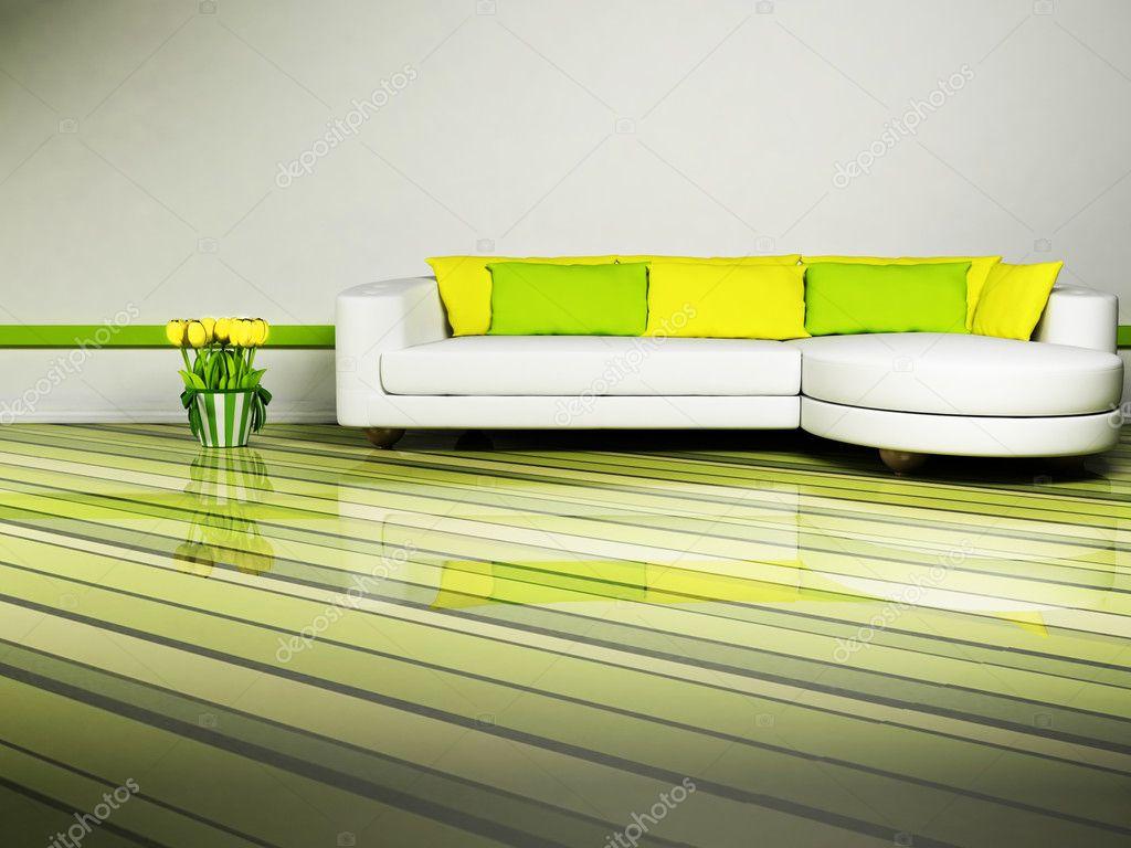 Ljusa inredning design av vardagsrum — stockfotografi © minerva86 ...