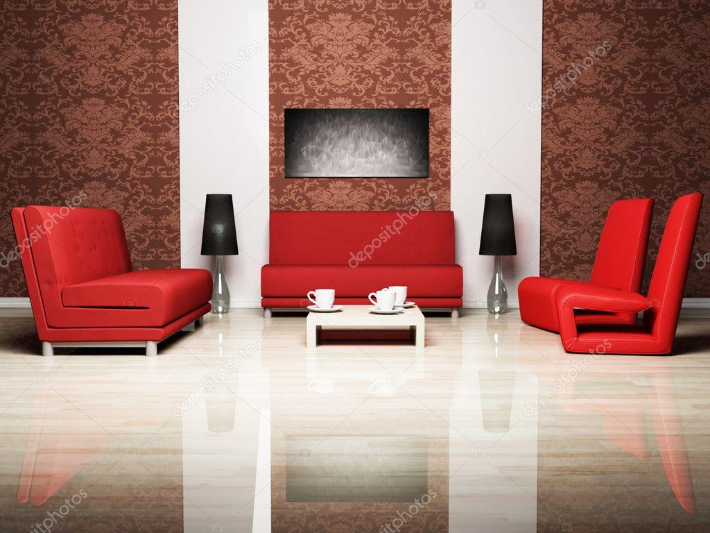 Modern inredning av vardagsrum — stockfotografi © minerva86 #5747472