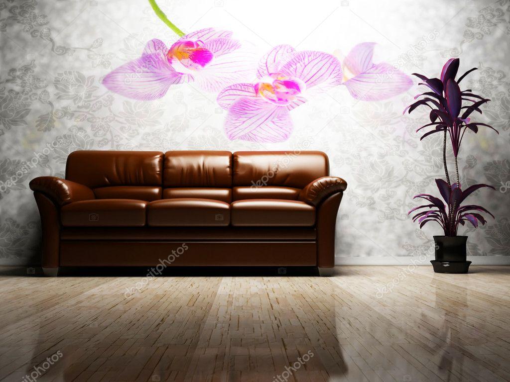 Modern inredning av vardagsrum — stockfotografi © minerva86 #5747609