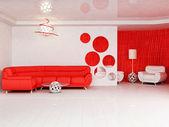 Interni dal design moderno soggiorno con — Foto Stock