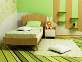 A nice green room for children — Stock Photo