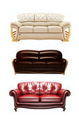 Three nice sofas — Stockfoto