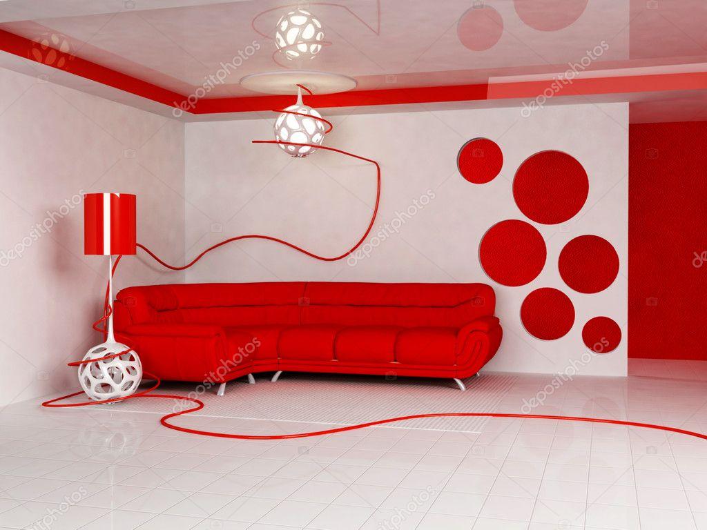 Design intérieur moderne de salon — photographie minerva86 © #5755355