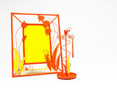 Orange and yellow Forged frame — Stock Photo