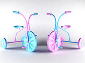 Two nice kid's bikes — Stockfoto