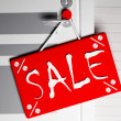 Stock Photo: Information about sale