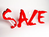Information about sale — Stock Photo