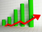Graph, the scale of increase, — Stock Photo