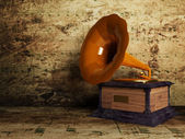 Beautiful old gramophone — Stock Photo
