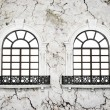 Foto Stock: Two retro nice windows