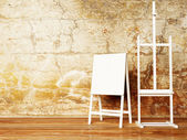 Two retro nice easels — Stockfoto