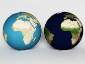 Two spheres, our Earth, — Stock Photo