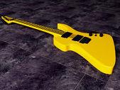 Gold nice guitar — Stock Photo