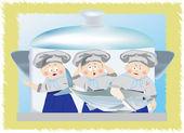 Cook K — 图库矢量图片