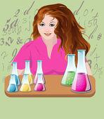 GIRL Chemistry — Stock Vector