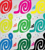 Węże w innym kolorze — Wektor stockowy
